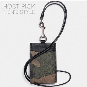 🎉 HP 🎉 🆕 Coach Camouflage ID Badge Lanyard